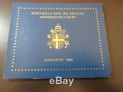 2002 Vaticano Giovanni Paolo II Divisionale Euro Fdc M2961