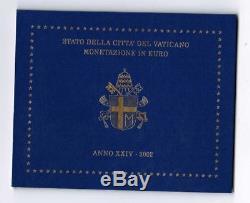 2002 Vaticano Vatican Vatikan Kms Euro Giovanni Paolo II Divisionale Corso Fdc