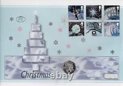 2003 The Snowman and James Isle of Man Christmas Silver Proof 50p FDC