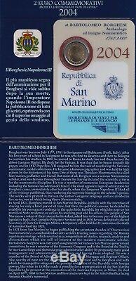 2004 San Marino 2 Euro Commemorativo Bartolomeo Borghesi FDC BU Folder