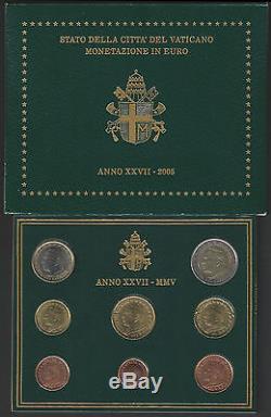 2005 Città del Vaticano serie divisionale della Zecca in Euro 8 monete FDC