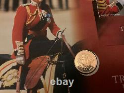 2005 Trooping The Colour First Day Cover Gold Proof Full Sovereign Coin