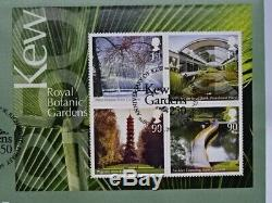 2009 Kew Gardens 50p & First Day Cover Set Genuine Brilliant Uncirculated RARE