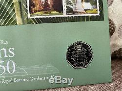 2009 MINT UNCIRCULATED KEW GARDENS 50p ON FIRST DAY COVER