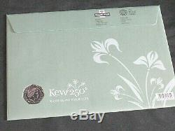 2009 ROYAL MINT Kew Gardens 250th Anniversary BU 50p Coin First Day COIN Cover
