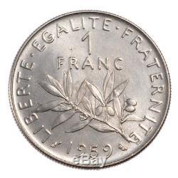 #20100 Monnaie, France, Semeuse, Franc, 1959, ESSAI, FDC, Nickel, Gadoury474