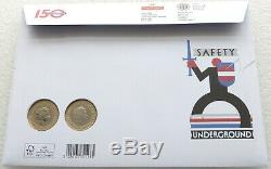 2013 London Underground BU £2 Two Pound 2 Coin Set First Day Cover Uncirculated