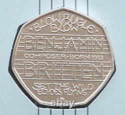 2013 Royal Mint Benjamin Britten 50p Fifty Pence Coin First Day Cover
