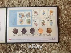 2016 beatrix potter Peter rabbit first day cover stamp and coin rare silverproof