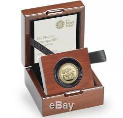 2017 Piedfort Gold Proof Sovereign 200th Gold Anniversary FDC Box & COA
