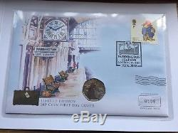 2018 Paddington Bear 50p FDC PNC Coin Cover Limited To 1000 Rare Coin Cover