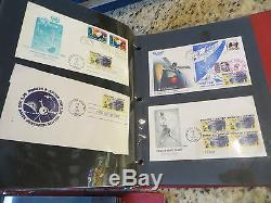 232 1961-1981 Space Event Covers, Tests, First Days, etc mounted -THREE Albums