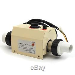 2KW 220V Water Swimming Pool SPA Bath Heater Electric Heating Thermostat