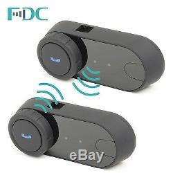 2Pcs FDC T-COM Motorcycle Helmet BT Intercom Headset FM Radio+Soft Wire Earpiece