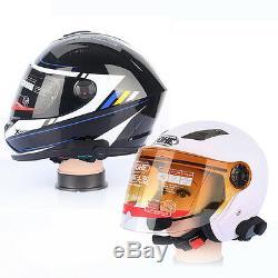 2x 800M 3 Riders Bluetooth Interphone Motorcycle Helmet Intercom HiFi Headset FM