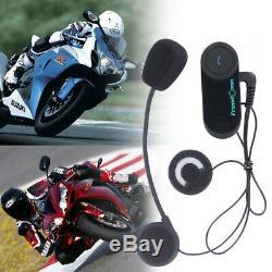 2x FDC 800M Moto Casque Interphone 2.4GHz Bluetooth Casque Intercom + FM Culasse
