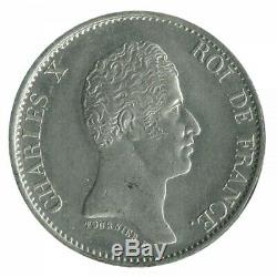 40 Francs Charles X Essai Uniface Etain 1824/1825