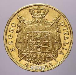 40 Lire 1814 Milano Spl+/spl-fdc Napoleone I Perizia Nip Grimoldi
