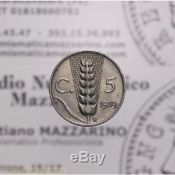 5 Centesimi 1919 Fe-Ni Spiga Campione (Regno Vitt Em III) FDC LOT1961