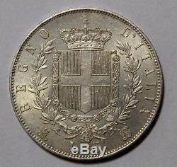 5 Lire 1872 Regno d'Italia Re Vittorio Emanuele II Milano FDC eccezionale
