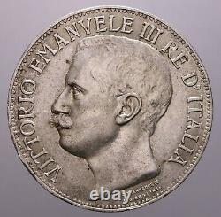 5 Lire 1911 Cinquantenario Spl-fdc R Vitt. Emanuele III Perizia Nip Grimoldi