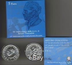 5 euro FDC Italia 2007 argento TOSCANINI Italie Italien Italy