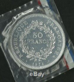 50 Francs Hercule Essai 1974 Scellé FDC