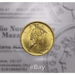 50 Lire 1931 IX Littore (Regno VE III) Ottimo qFDC/FDC LOT1425