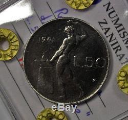50 Lire 1961 Vulcano Repubblica Italiana FDC