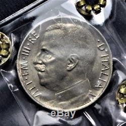50 centesimi 1924 LEONI bordo liscio -RRR- FDC Perizia Cavaliere