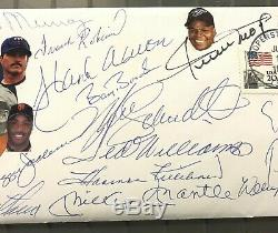 500 HR Club 13x Signed First Day Cover FDC Mickey Mantle Ted Williams + JSA LOA