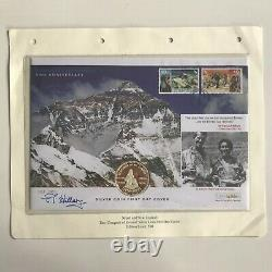 50th Anniversary First Ascent of Mount Everest FDC signed by Sir Edmund Hillary