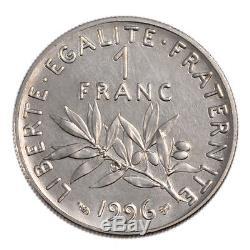 #52242 Monnaie, France, Semeuse, Franc, 1996, FDC, Nickel, Gadoury474a