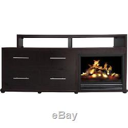 66 Electric Fireplace Media TV Stand Entertainment Center Living Room Furniture