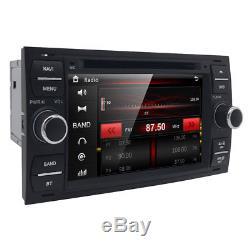 7 Car GPS Sat-Nav Head Unit Bluetooth DVD Player USB Stereo for Ford Fiesta MK6
