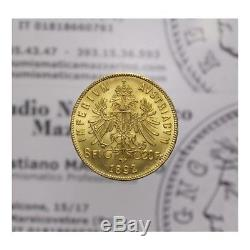 8 Fiorini 20 Franchi 1892 Oro (Austria Francesco Giuseppe I) FDC LOT1448