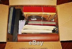 8 items in 1 lot (WorldWide Stamps, US Stamps, Albums, Supplies, Binders, FDC.)