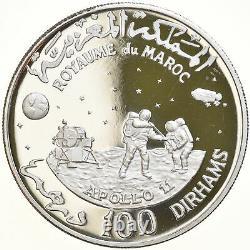 #879109 Monnaie, Maroc, Hassan II, Apollo 11, 100 Dirhams, 1970, Proof, FDC, A
