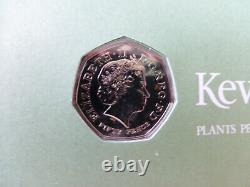 A 2009 ROYAL MINT + UNCIRCULATED KEW GARDENS 50p PENCE FIRST DAY COVER