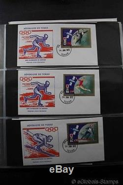 AFRICA SPACE FDC Stamp Collection Overprints Gold Silver Imperforated