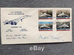 Air France Concorde New Hebrides First Day Cover Signed Andre Turcat Watts 1978