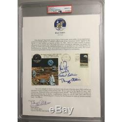 Apollo 11 Crew Signed FDC Insurance with Buzz Aldrin Signed Collection Letter PSA
