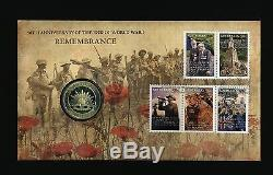 Australia PNC 2008 REMEMBRANCE GOLD FOIL Stamp Coin FDC # 086/1,111