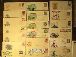 Australian pre-decimal first day covers 1949-1965 BOX LOT. Over 120+ Covers. AAA