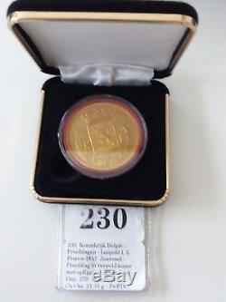 BELGIE proefslag 1847 leopold I 5 frank Jouvenel FDC zeer zeer zeldzaam