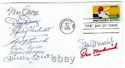 Baseball'69 FDC Musial, Medwick, Dean, Mantle, Hartnett, Rouch +++ with CAS COA