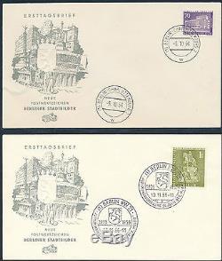 Berlin Berliner Stadtbilder 1956/1962 Ersttagsbriefe FDC Michel 140-154 (S12042)