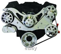 Billet Serpentine Front Drive System-351 Ford CLEVELAND-Polished -with A/C & PS