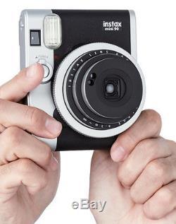 Black FujiFilm Instax Mini 90 NEO CLASSIC Instant Photos Films Polaroid Camera