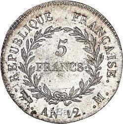 Bonaparte Premier Consul 5 Francs AN12 Toulouse UNC/FDC Etat exceptionnel